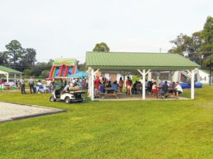 Fairmont's National Night Out event included music by Mr. P and Friends, performances by local churches and the Southern Sapphires, the Fairmont High school color guard,games, bounce slides and train rides.