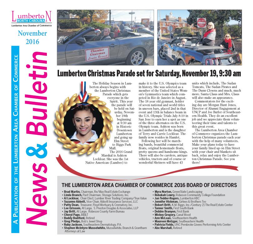 Chamber Newsletter Nov. 2016