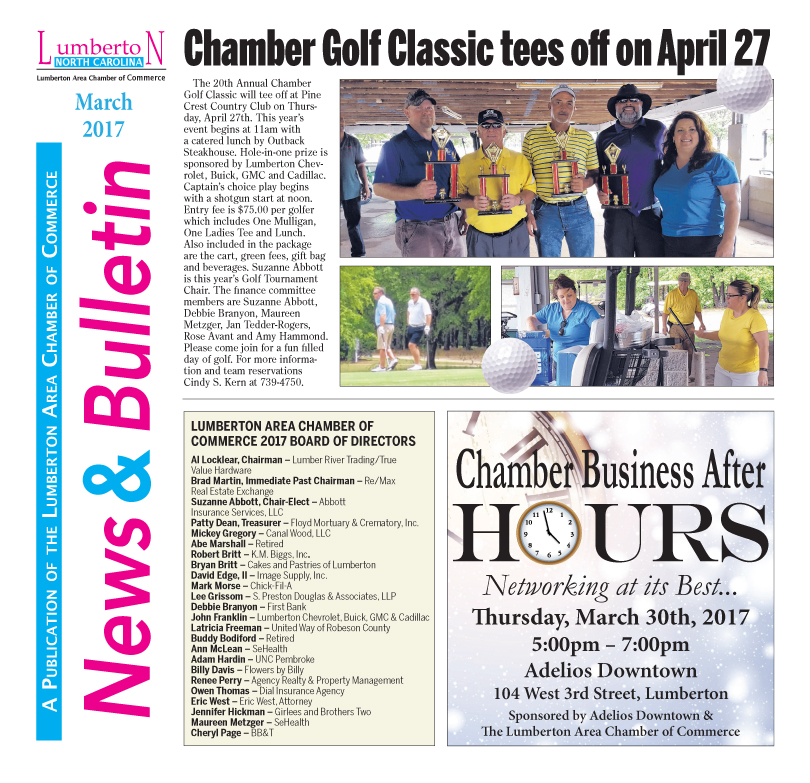 Chamber Newsletter March 2017