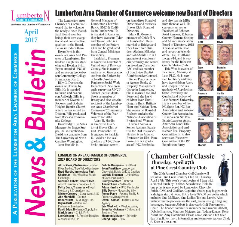 Chamber Newsletter April 2017