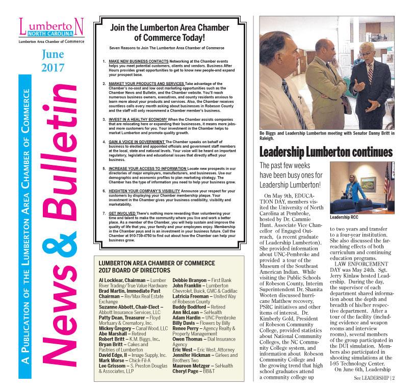 Lumberton Chamber Newsletter June 2017
