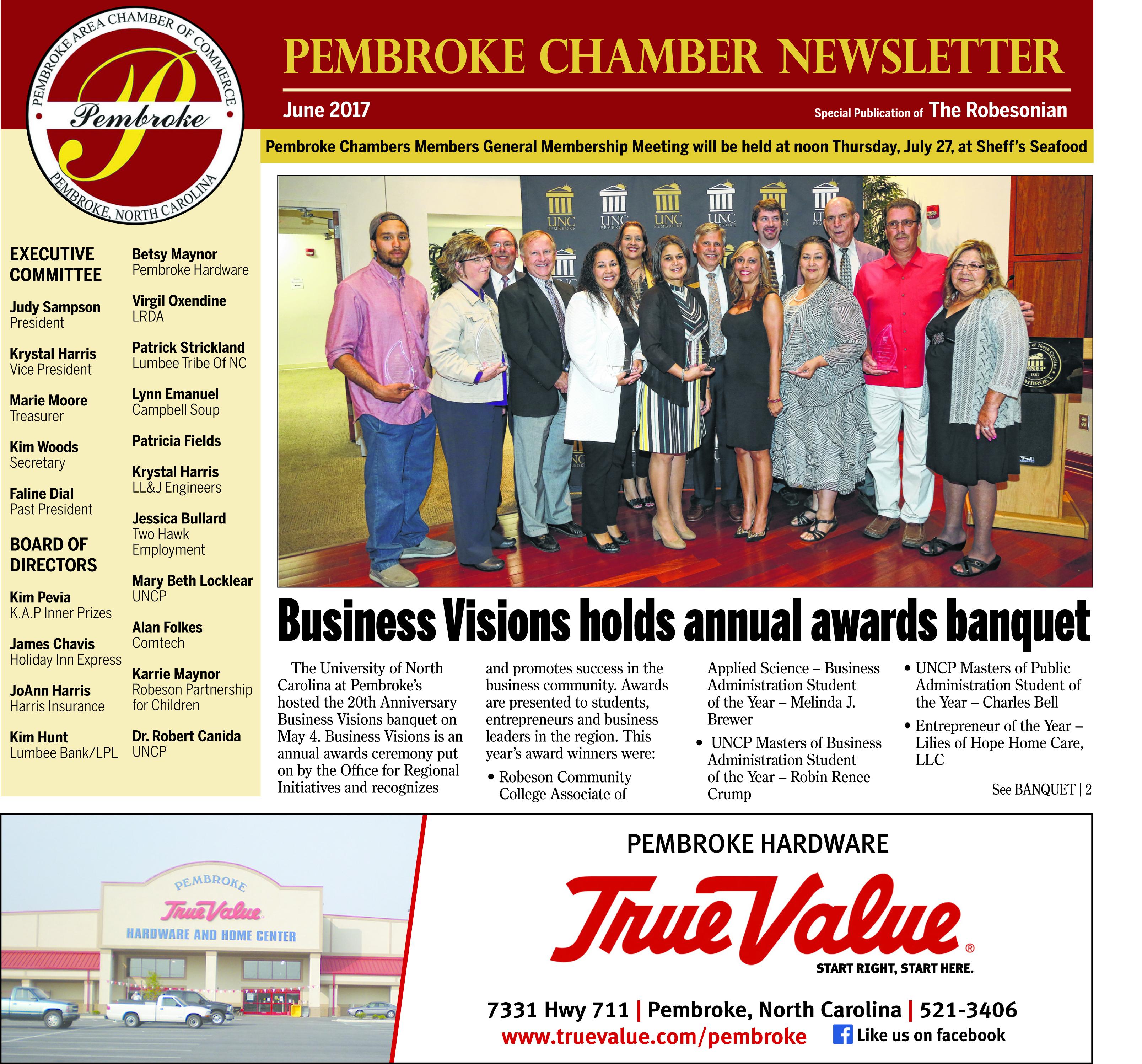 Pembroke Chamber Newsletter: June 2017